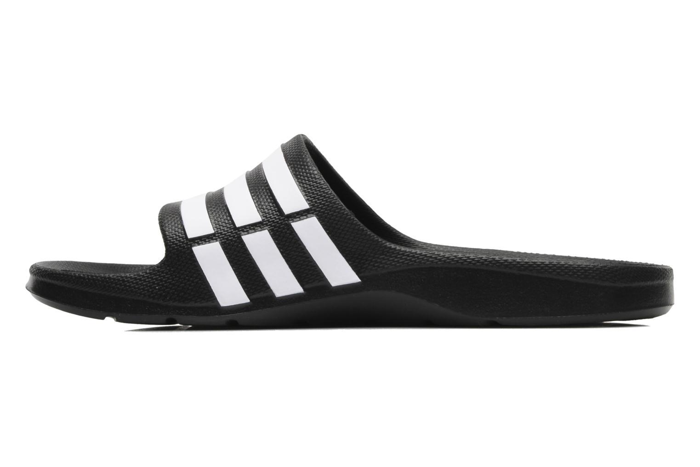 Sportschuhe Adidas Performance Duramo Slide schwarz ansicht von vorne