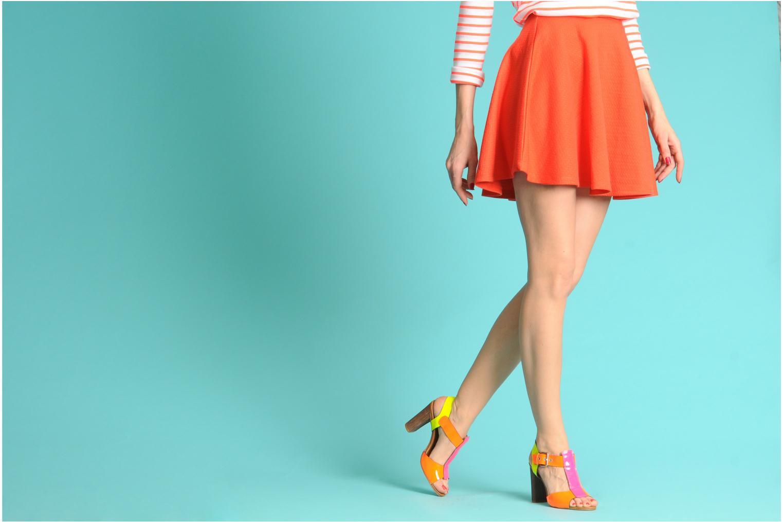 Sandales et nu-pieds Pastelle Bassa Multicolore vue bas / vue portée sac