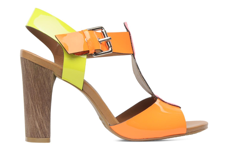 Sandales et nu-pieds Pastelle Bassa Multicolore vue derrière