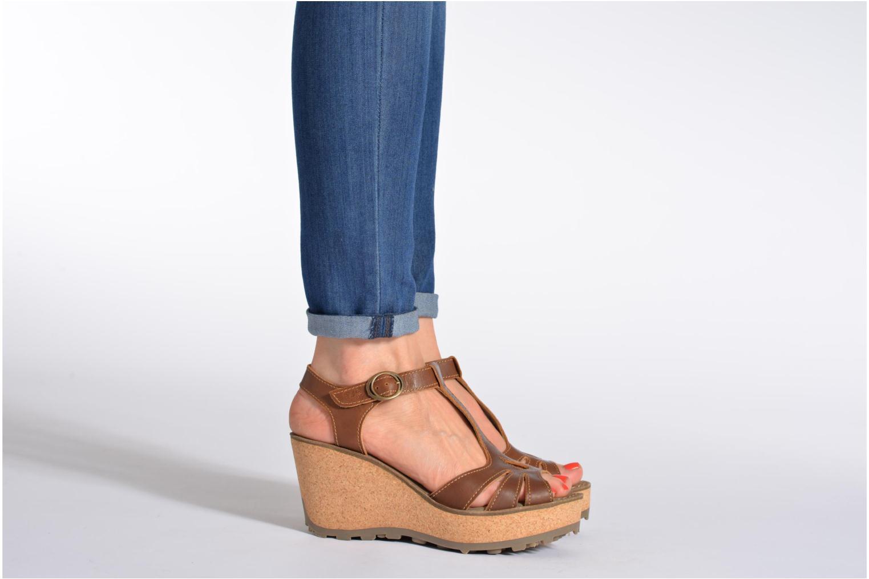 Sandales et nu-pieds Fly London Gold Bleu vue bas / vue portée sac