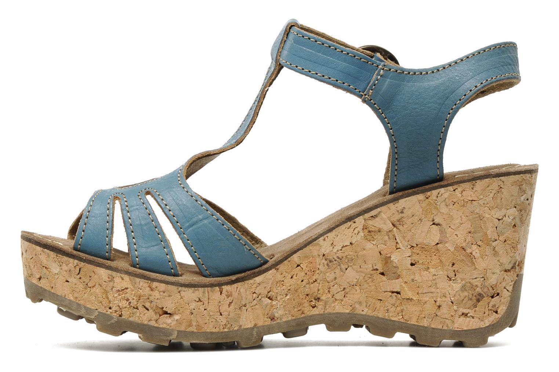 Sandales et nu-pieds Fly London Gold Bleu vue face