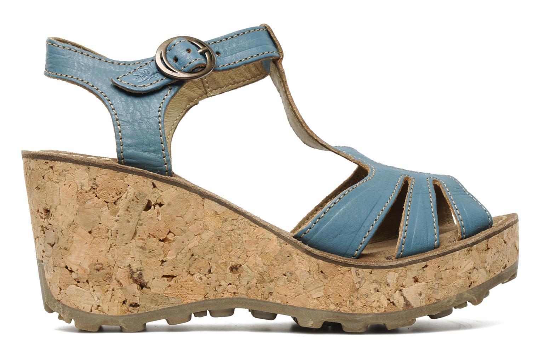 Sandales et nu-pieds Fly London Gold Bleu vue derrière