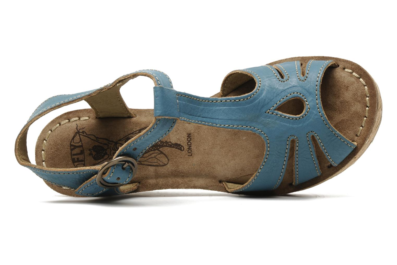 Sandales et nu-pieds Fly London Gold Bleu vue gauche