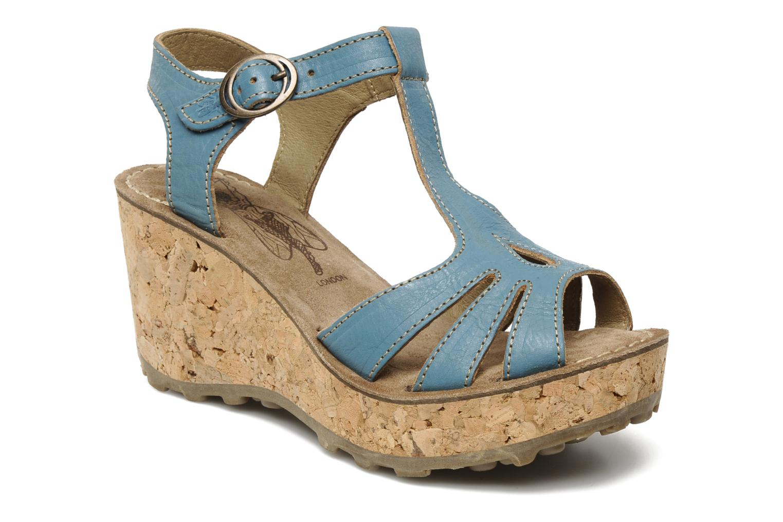 Sandales et nu-pieds Fly London Gold Bleu vue détail/paire