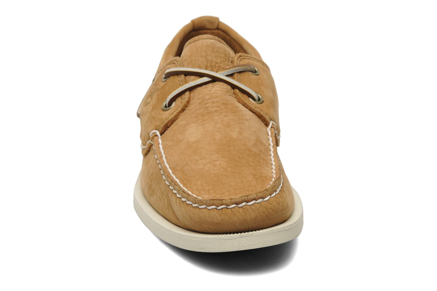 Chaussures à lacets Timberland Earthkeepers Heritage Boat 2 Eye Beige vue portées chaussures