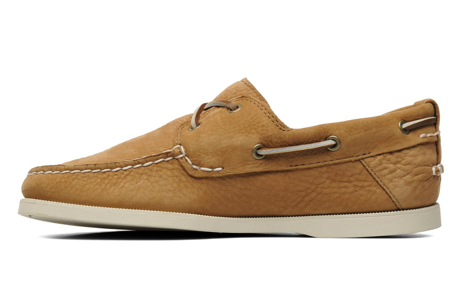 Chaussures à lacets Timberland Earthkeepers Heritage Boat 2 Eye Beige vue face