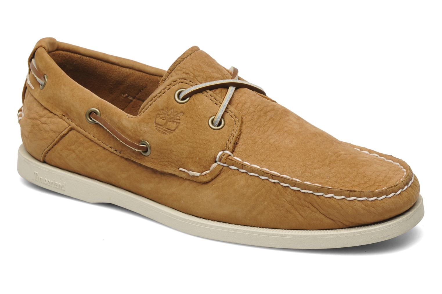 Chaussures à lacets Timberland Earthkeepers Heritage Boat 2 Eye Beige vue détail/paire