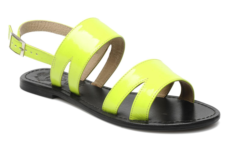 Sammy sandal Patent Neon Yellow