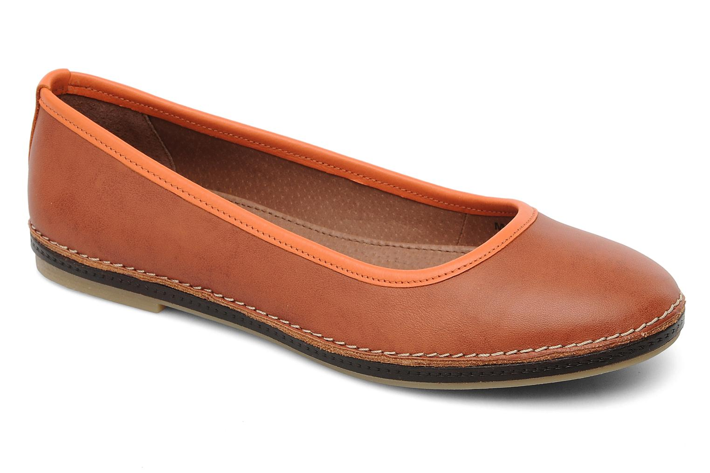Ballerinaer Kickers Bird Orange detaljeret billede af skoene