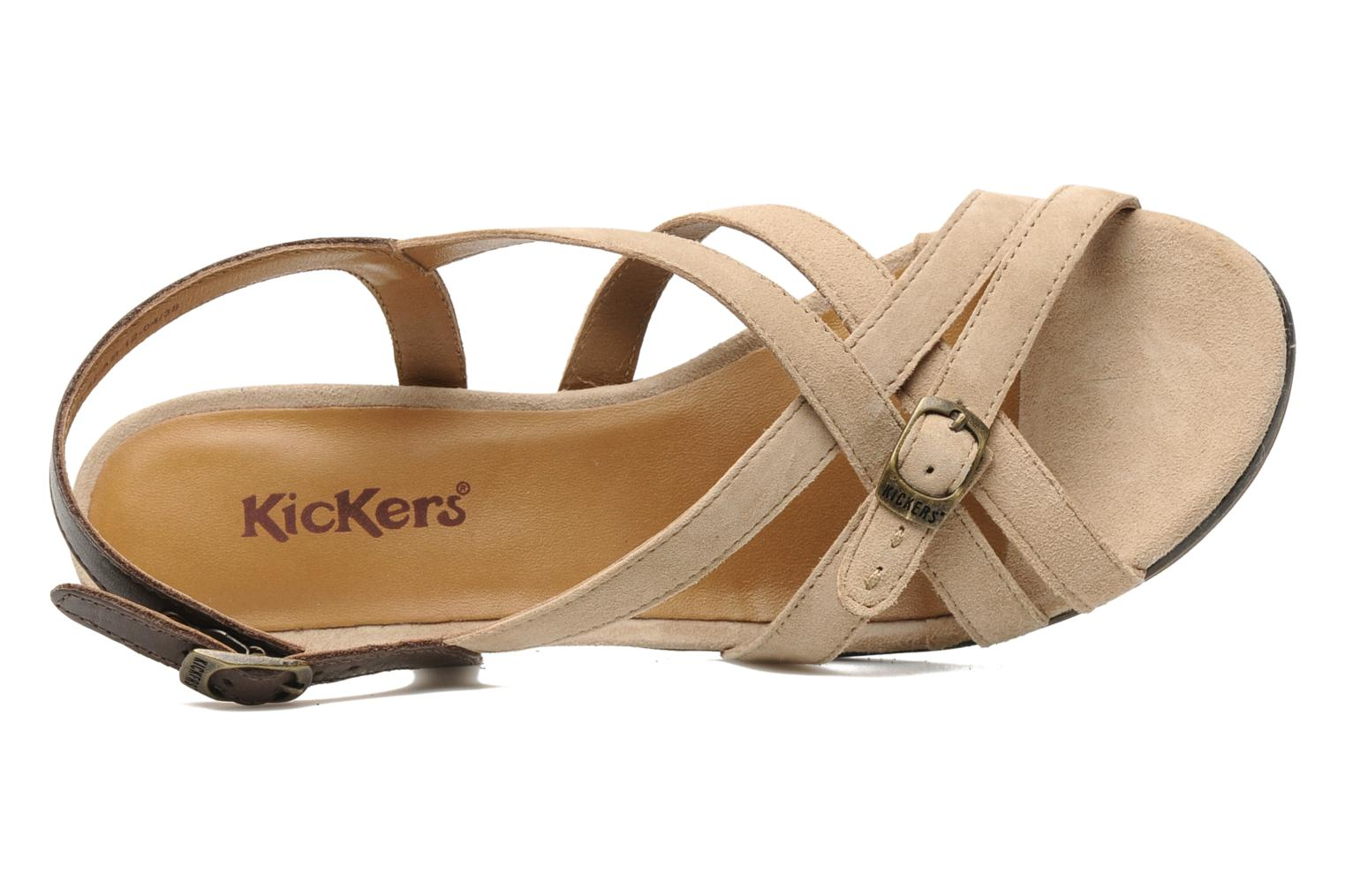 Sandalen Kickers KENYANE Beige links
