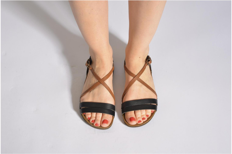 Sandales et nu-pieds Kickers Atomium Bleu vue bas / vue portée sac