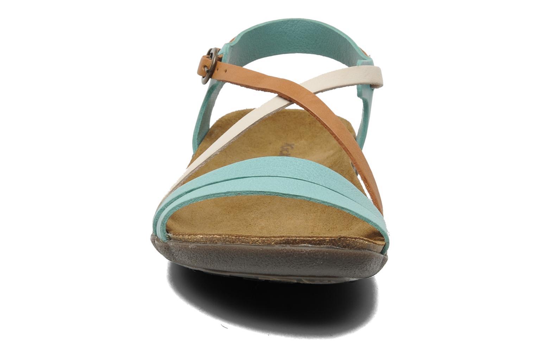 Sandalen Kickers Atomium blau schuhe getragen