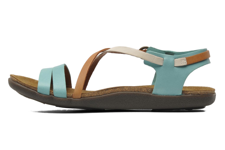 Sandales et nu-pieds Kickers Atomium Bleu vue face