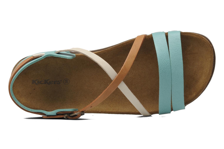 Sandales et nu-pieds Kickers Atomium Bleu vue gauche