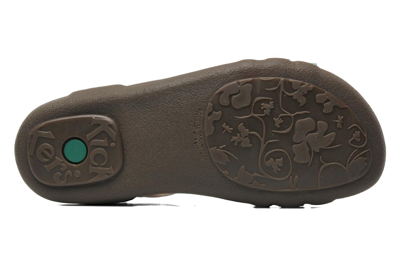 Sandales et nu-pieds Kickers Atomium Bleu vue haut