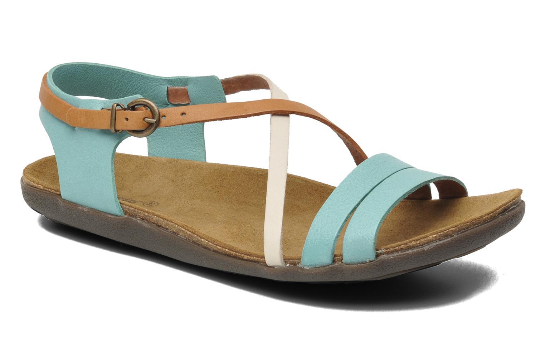 Sandales et nu-pieds Kickers Atomium Bleu vue détail/paire