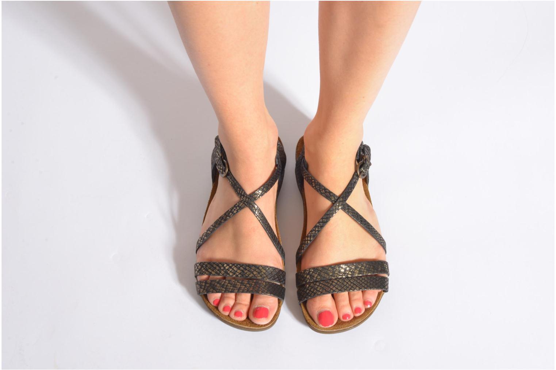 Sandales et nu-pieds Kickers Atomium Marron vue bas / vue portée sac