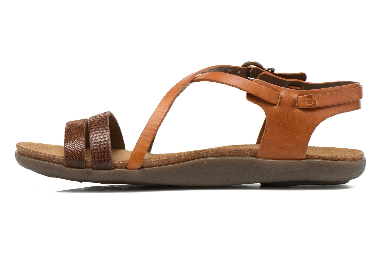 Sandales et nu-pieds Kickers Atomium Marron vue face