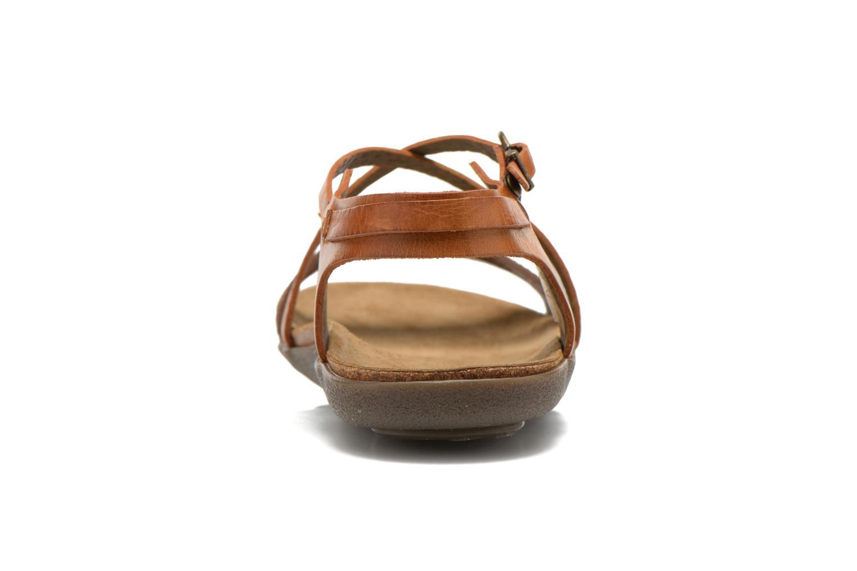 Sandales et nu-pieds Kickers Atomium Marron vue droite
