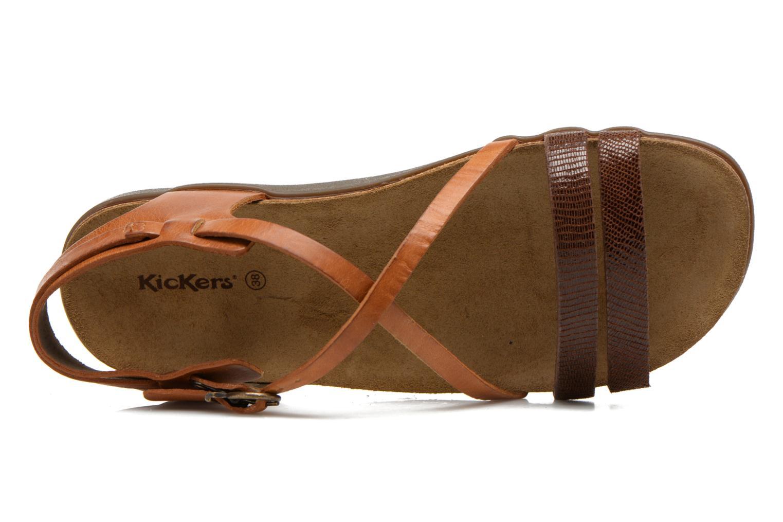 Sandales et nu-pieds Kickers Atomium Marron vue gauche
