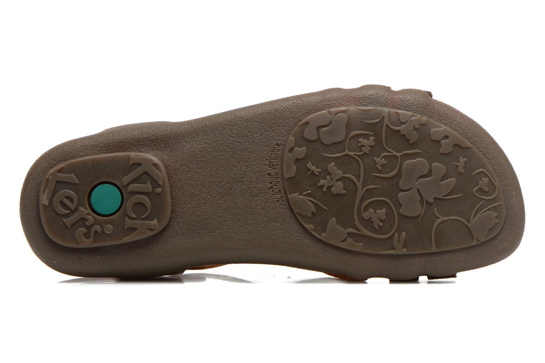 Sandales et nu-pieds Kickers Atomium Marron vue haut