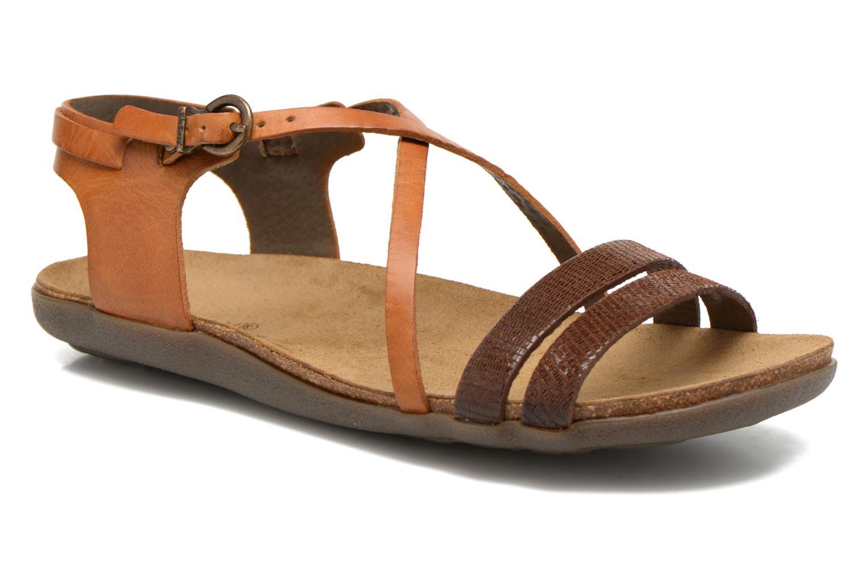 Sandales et nu-pieds Kickers Atomium Marron vue détail/paire