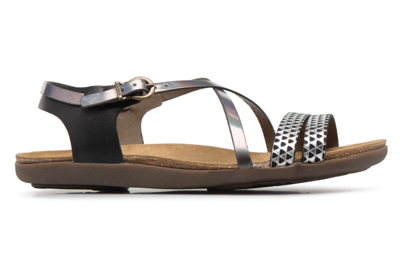 Sandales et nu-pieds Kickers Atomium Noir vue derrière