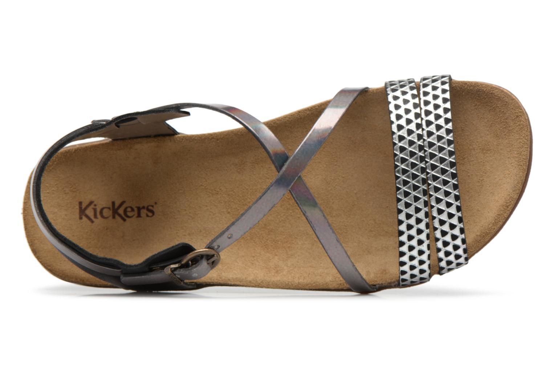 Sandales et nu-pieds Kickers Atomium Noir vue gauche