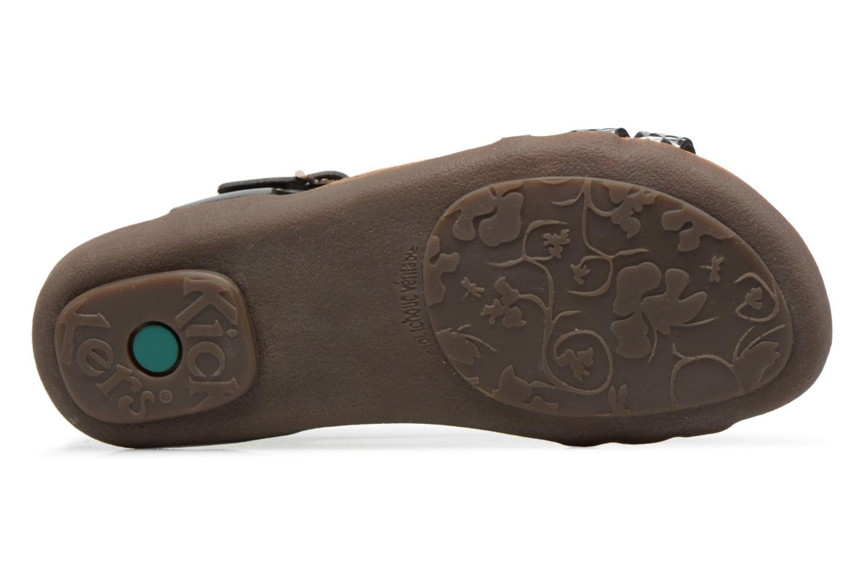 Sandales et nu-pieds Kickers Atomium Noir vue haut
