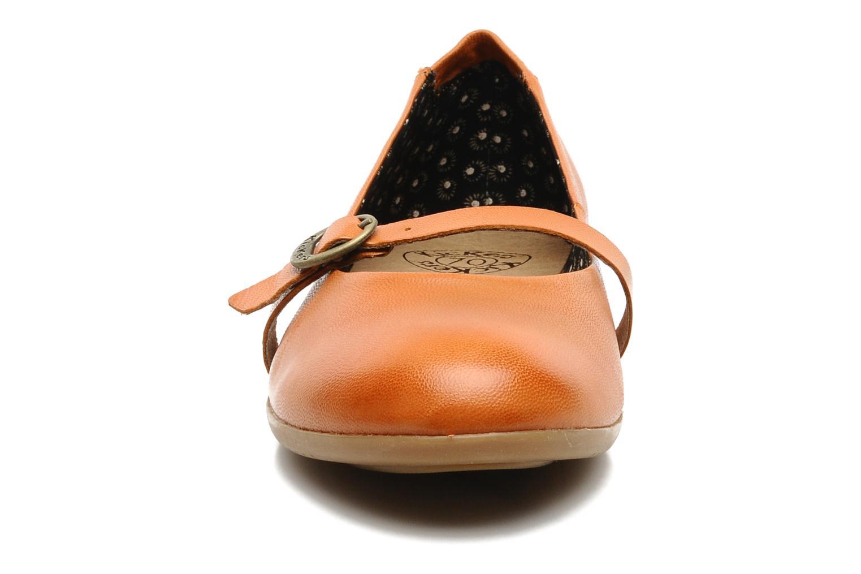 Ballerinas Kickers Ligue orange schuhe getragen