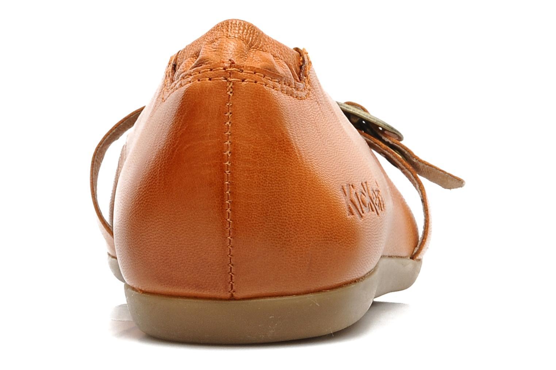 Ballerinas Kickers Ligue orange ansicht von rechts