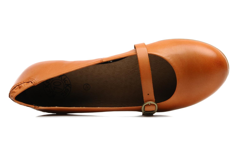 Ballerinas Kickers Ligue orange ansicht von links