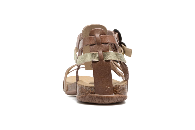 Sandales et nu-pieds Kickers Ana Beige vue droite