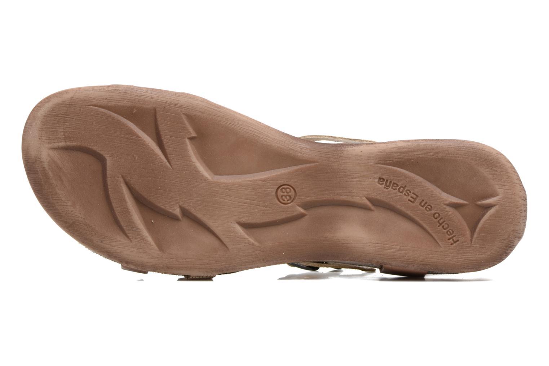 Sandales et nu-pieds Kickers Ana Beige vue haut