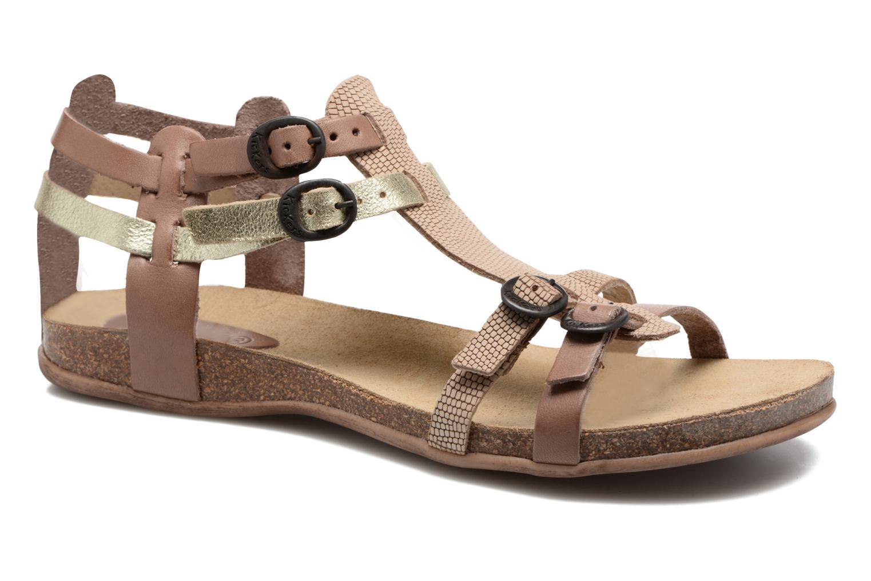 Sandales et nu-pieds Kickers Ana Beige vue détail/paire