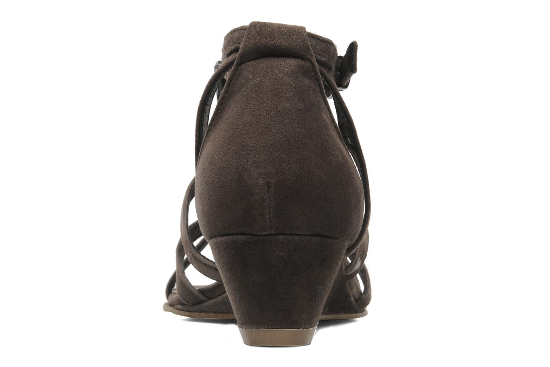 Sandales et nu-pieds JB MARTIN Isca Marron vue droite