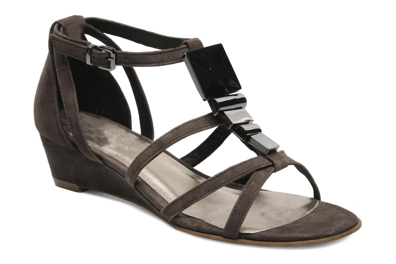 Sandales et nu-pieds JB MARTIN Isca Marron vue détail/paire
