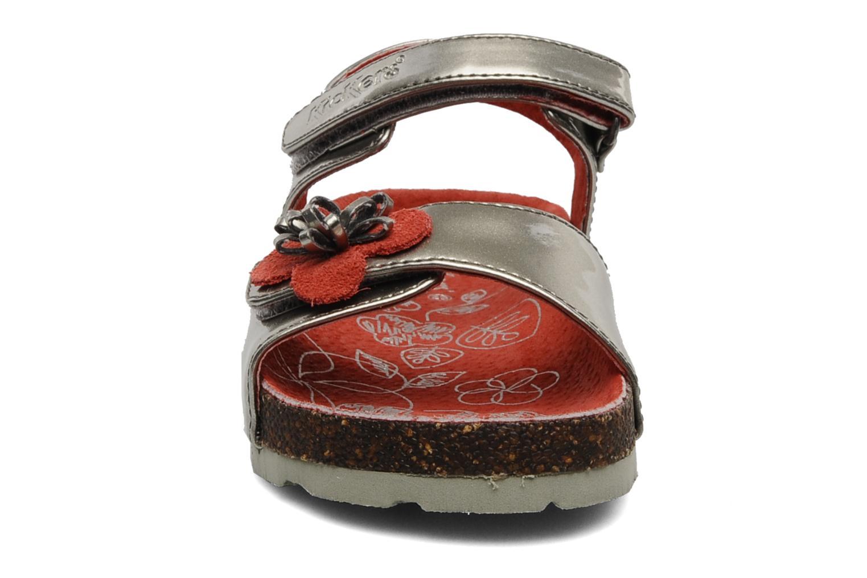 Sandales et nu-pieds Kickers MAGISUN Argent vue portées chaussures