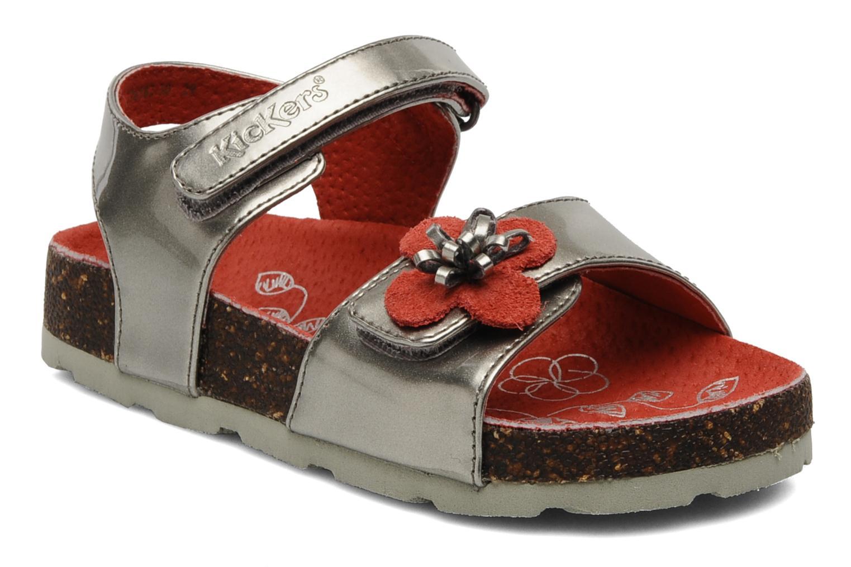 Sandales et nu-pieds Kickers MAGISUN Argent vue détail/paire
