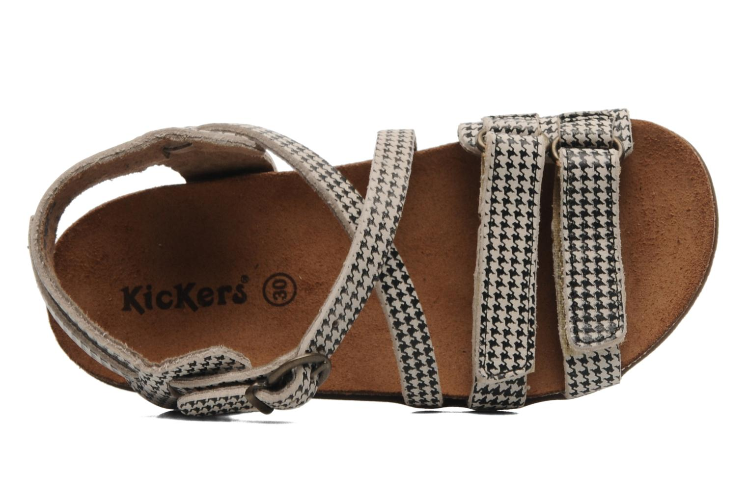 Sandalen Kickers ATOMIUM E Zwart links