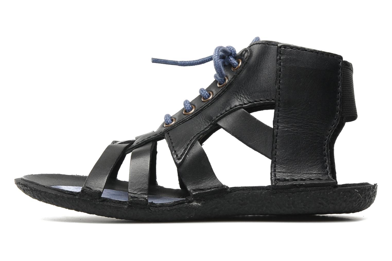 Sandales et nu-pieds Kickers PUNCHY E Noir vue face