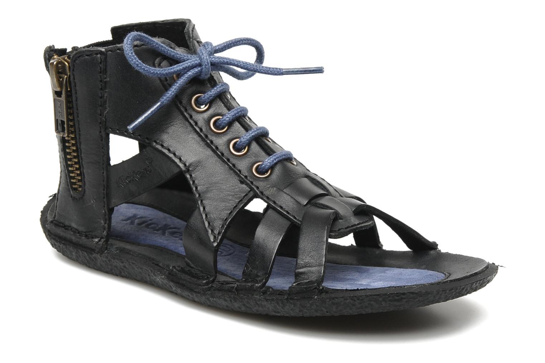 Sandalen Kickers PUNCHY E Zwart detail