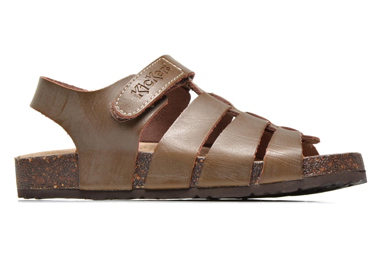 Sandales et nu-pieds Kickers MAGINO Marron vue derrière