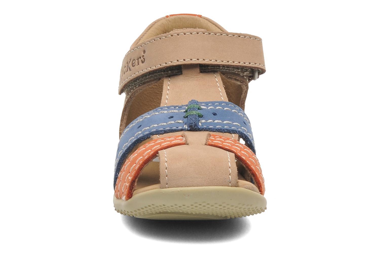 Sandalen Kickers BIGBAZAR beige schuhe getragen