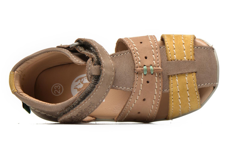 Sandales et nu-pieds Kickers BIGBAZAR Beige vue gauche