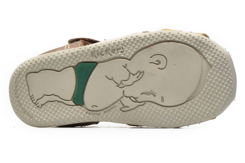 Sandalen Kickers BIGBAZAR beige ansicht von oben