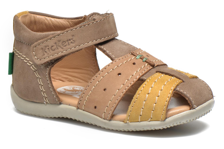 Sandales et nu-pieds Kickers BIGBAZAR Beige vue détail/paire