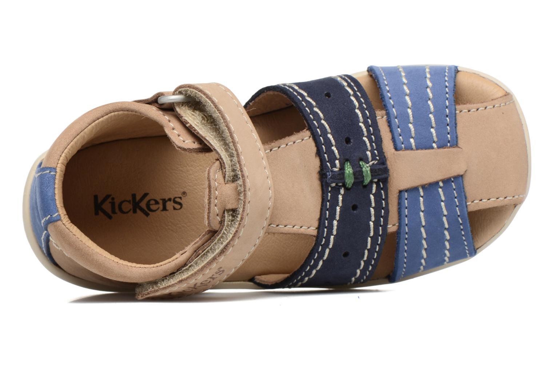 Sandalen Kickers BIGBAZAR beige ansicht von links