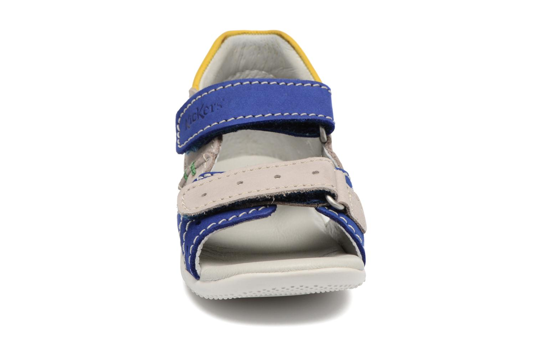 Sandales et nu-pieds Kickers BOPING Bleu vue portées chaussures