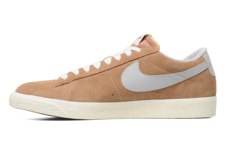 Trainers Nike Blazer Low Prm Vintage Suede Beige front view